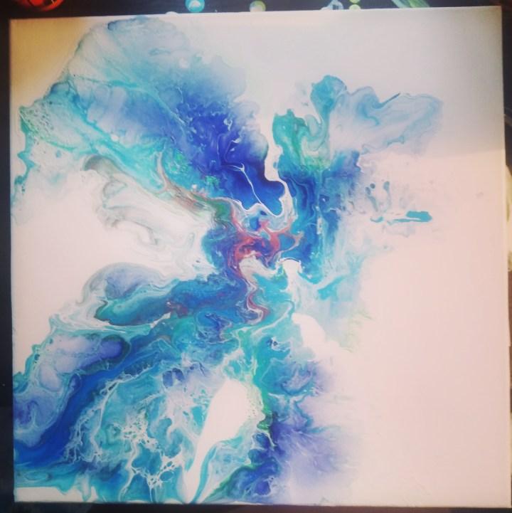 Peinture d'inspiration pour la carte d'Ourrhaia.
