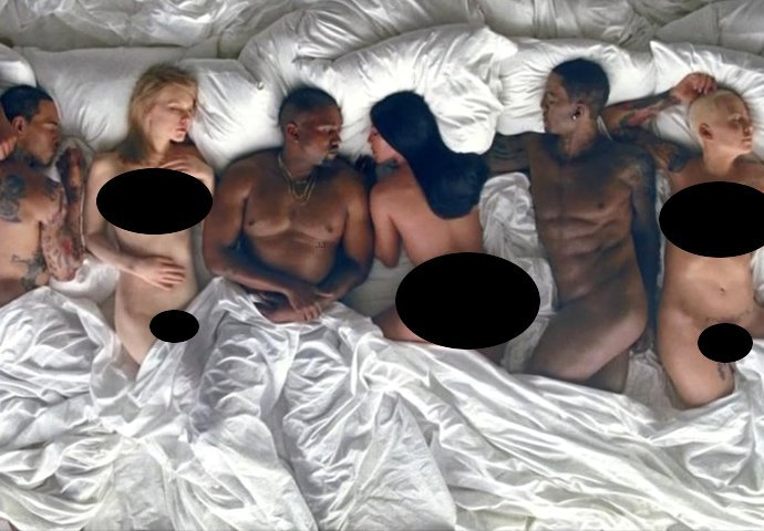 DOWNLOAD: Kanye West Video For 'Famous' Is Wild; Kim Kardashian, Amber Rose, Rihanna, Donald Trump, Chris Brown, Caitlyn Jenner Sleep Nak3d!