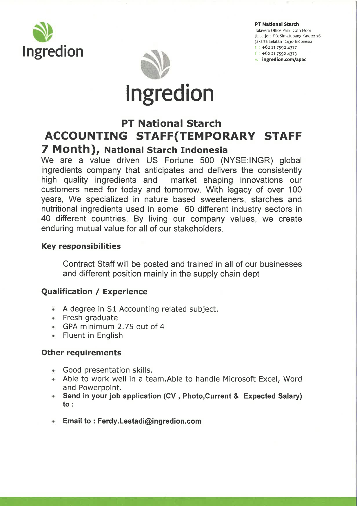 Contoh Cover Letter Staff Nurse