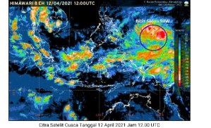 CAPTURE | Capture pantauan citra satelit tanggal 12 April 2021. (Foto: BMKG)