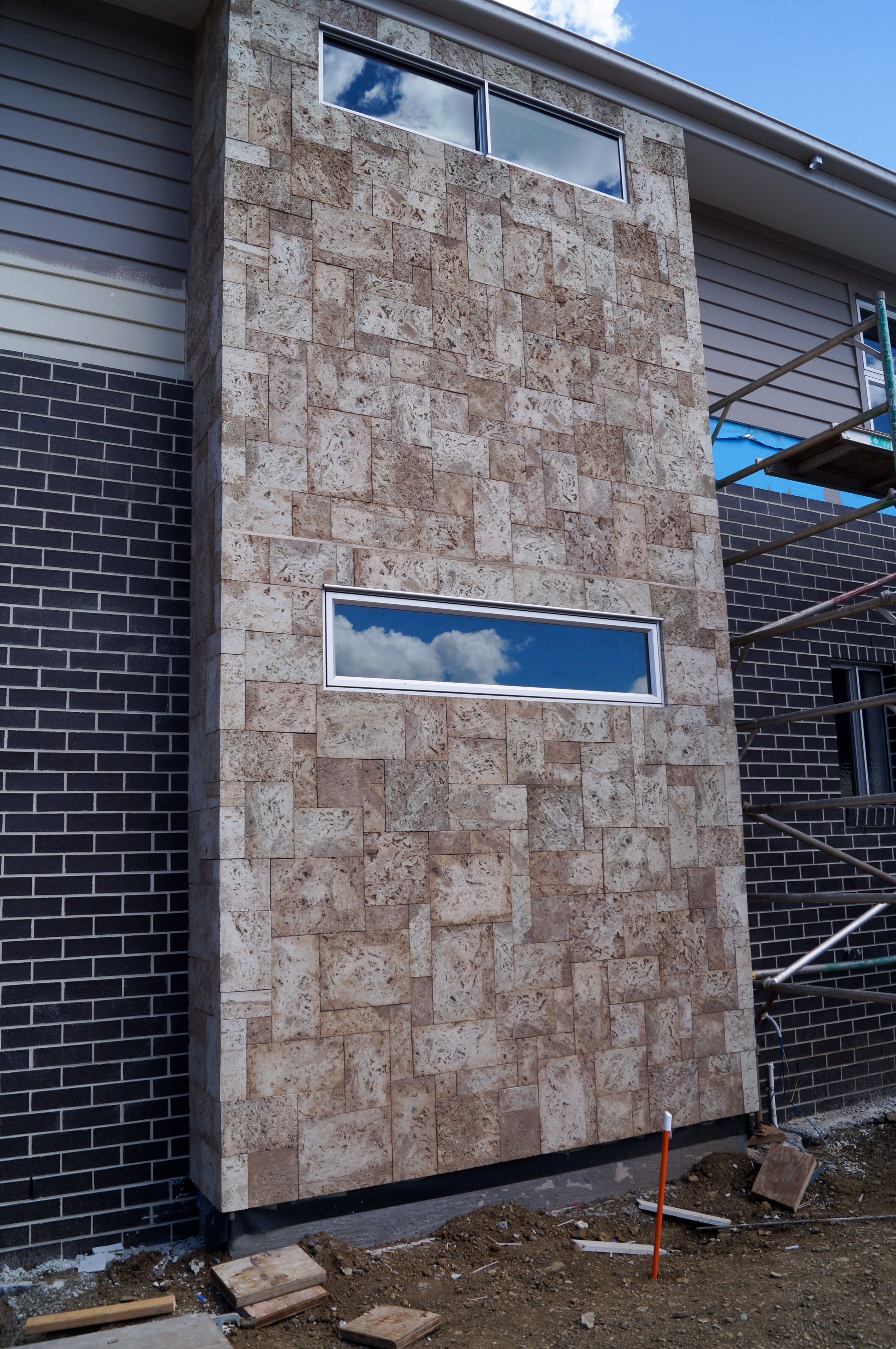 Cladding Sandstone Fireplace  SEQ Tiling and Cladding Service