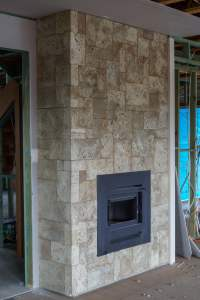 Cladding Sandstone Fireplace - SEQ Tiling and Cladding Service