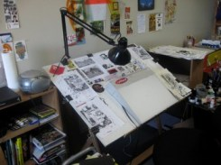James Lloyd's desk