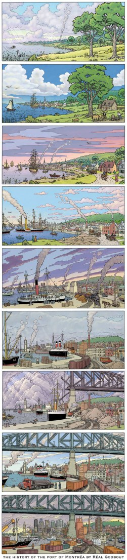 the history of the port of Montrea