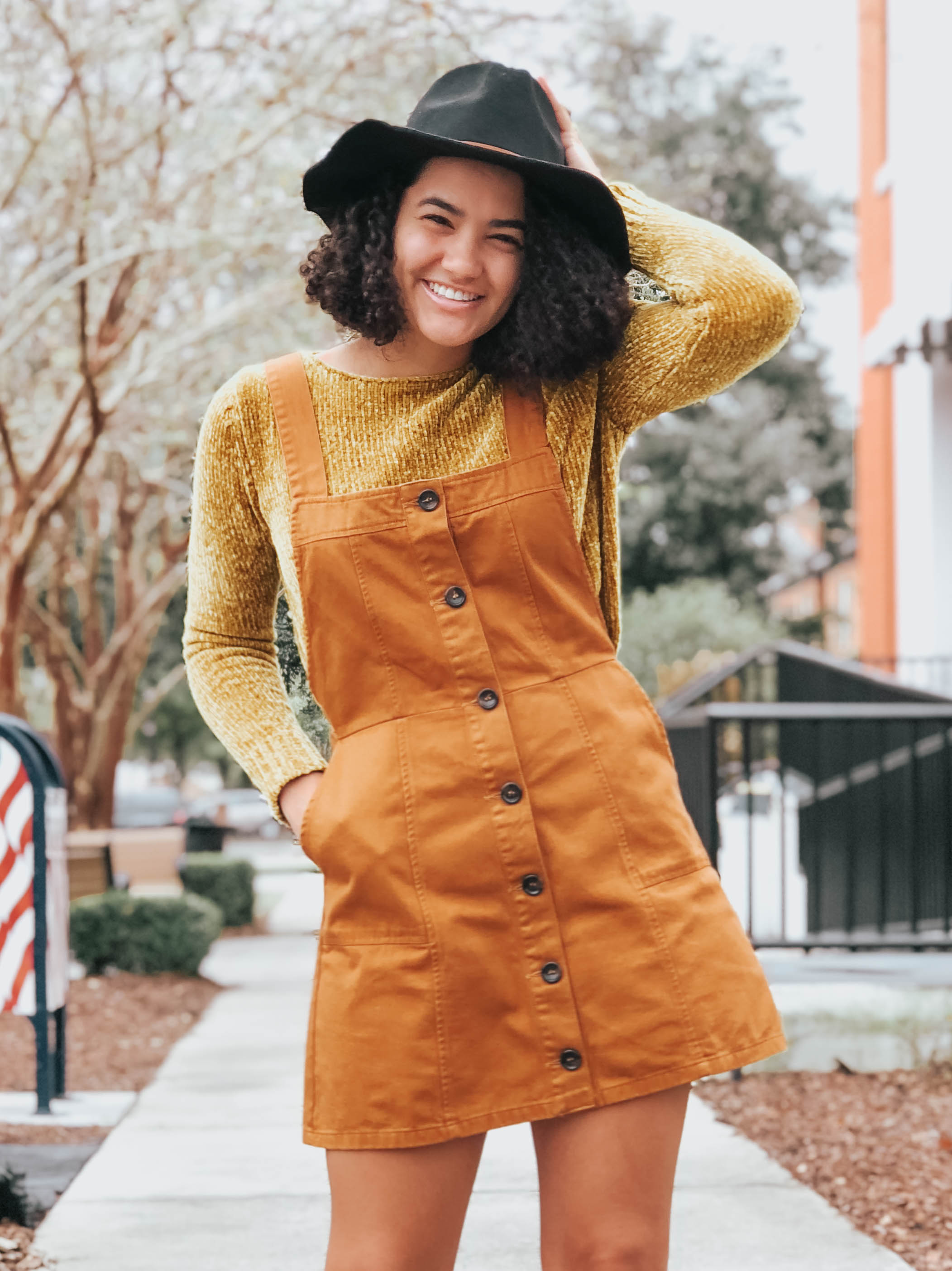 orange-overall-dress-entourage-winter-style-review