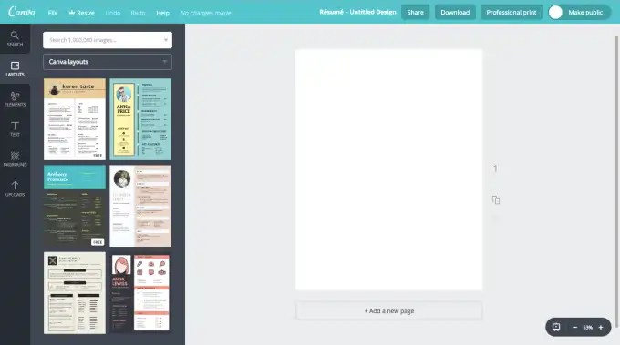 canva-home-page