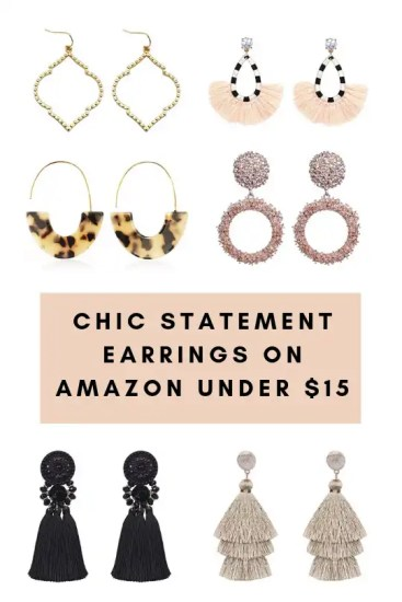 Chic Statement Earrings on Amazon Under $15