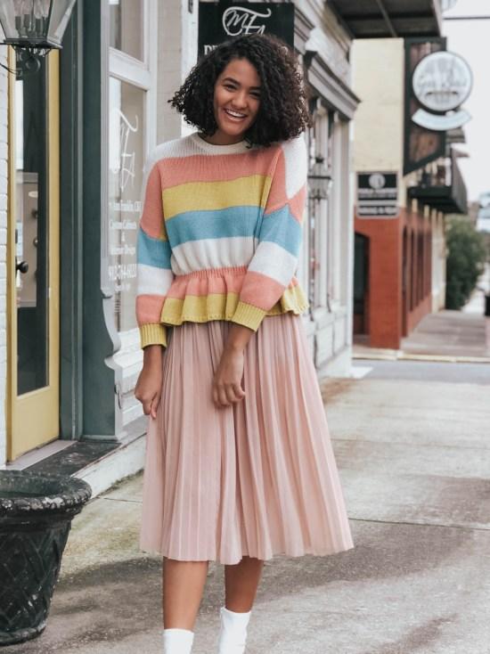 striped-peplum-sweater-twenty-winter-outfit-ideas