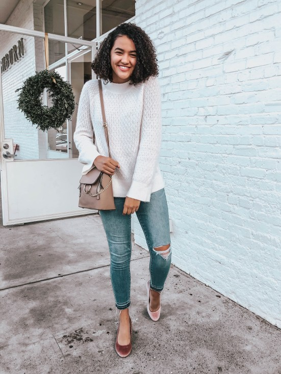 white-sweater-jeans-twenty-winter-outfit-ideas