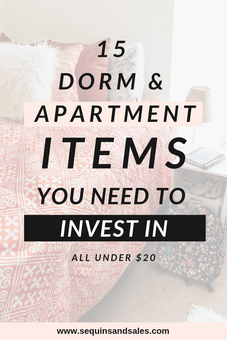 Fifteen Dorm and apartment Items You Need to Invest In Under Twenty Dollars