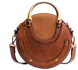 Cognac Saddle Bag Spring and Summer Handbags Under Fifty Dollars