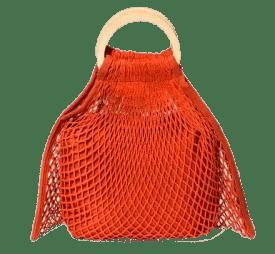 Orange Woven Handbag Spring and Summer Handbags Under Fifty Dollars