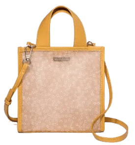 Pink Floral Mesh Crossbody Bag Spring and Summer Handbags Under Fifty Dollars