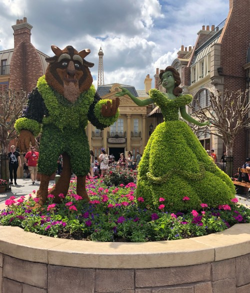 Beauty and the Beast Topiary Disney's Flower and Garden Festival Epcot