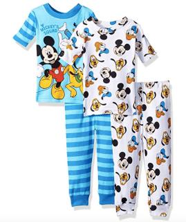 Four Piece Pajama Set Kids Disney Finds