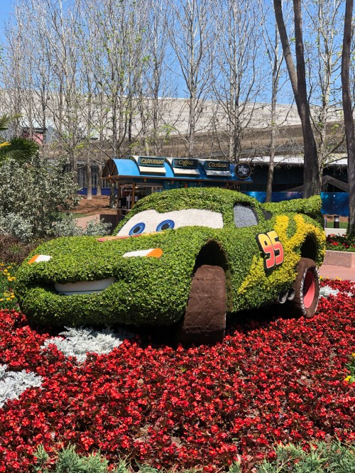 Lightning McQueen Topiary Disney's Flower and Garden Festival Epcot