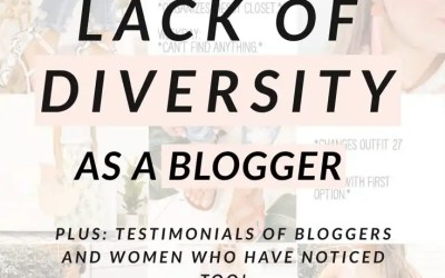 Noticing a Lack of Diversity as a Blogger