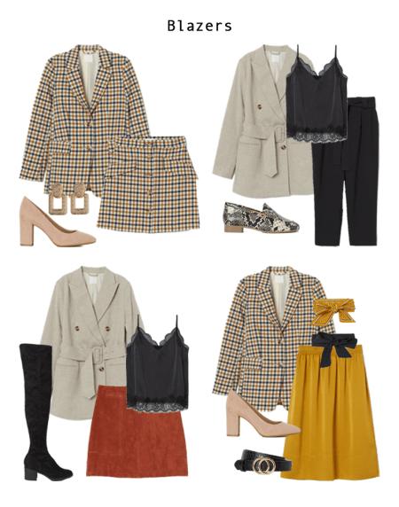 Four Work Wear Looks that Include Blazers