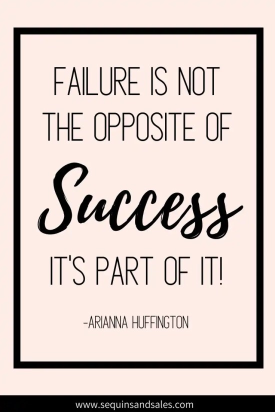 """""""Failure is not the opposite of success, it's part of it."""" motivational quote for discouragement"""