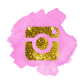 instagrampink and gold glitter
