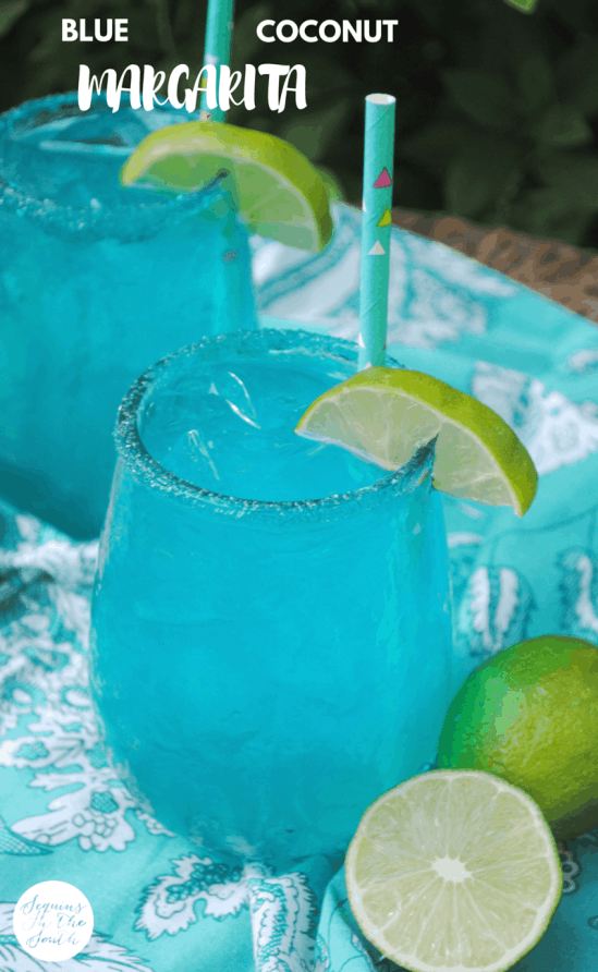 Blue Margarita - on simple addition gives a classic cocktail a punch of color and flavor!