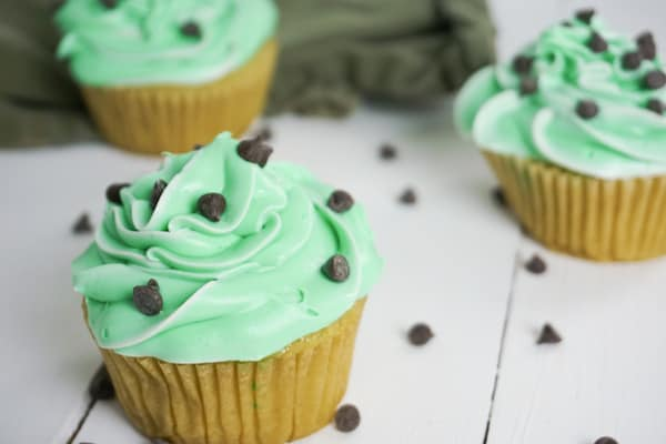 Boozy Andes Mint Cupcakes