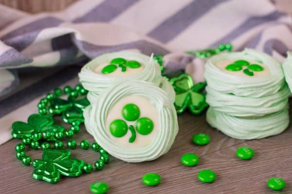 St. Patrick's Day Meringue Cookies