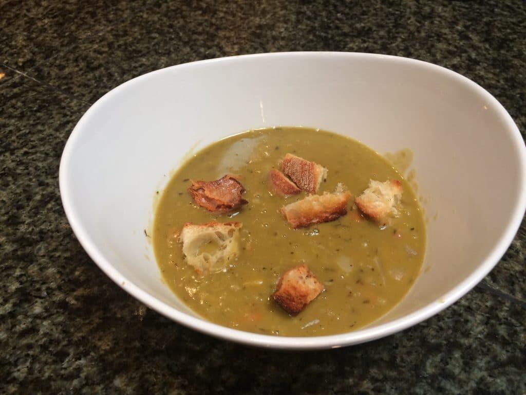 bowl of ham soup