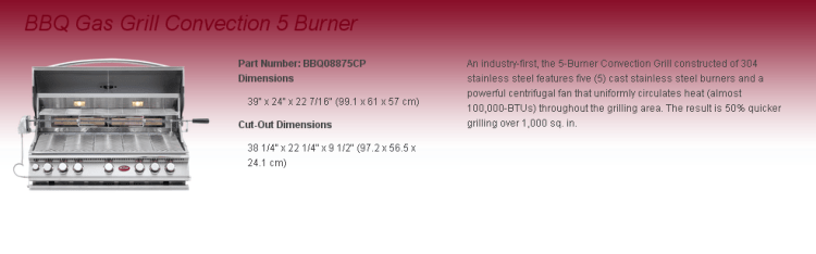 Convection 5 Burner