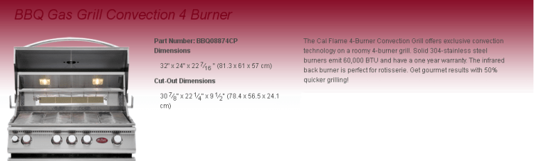 Convection 4 Burner