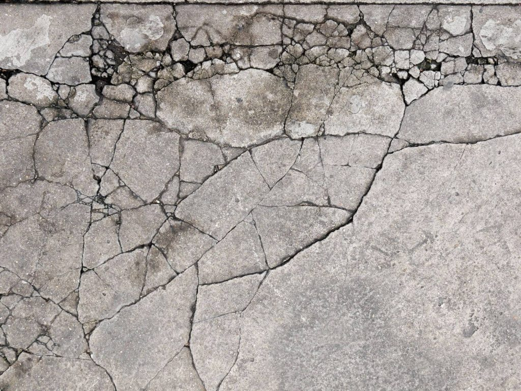 to fix cracked and uneven concrete patio
