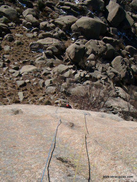 escalada Walkiria Yelmo Pedriza 1 SERAC COMPAÑÍA DE GUÍAS