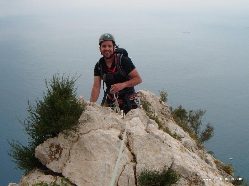 escalada Peñon Ifach 5 SERAC COMPAÑÍA DE GUÍAS
