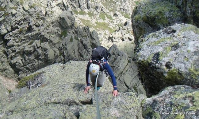 escalada 4 Alta Ruta Maliciosa Guadarrama Madrid SERAC COMPAÑÍA DE GUÍAS