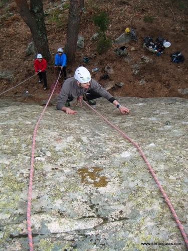 escalada segundo top rope SERAC COMPAÑÍA DE GUÍAS