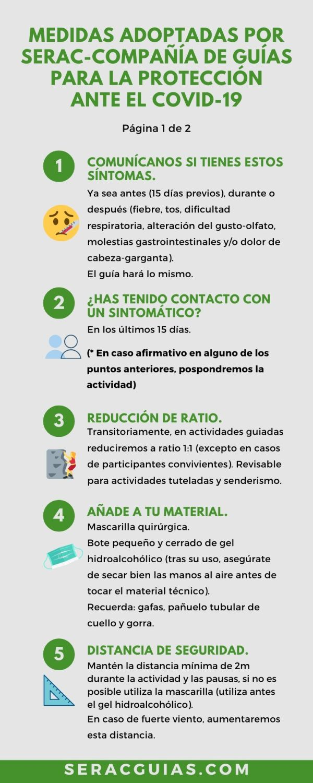 1 Medidas montaña protección COVID 19 SERAC COMPAÑÍA DE GUÍAS