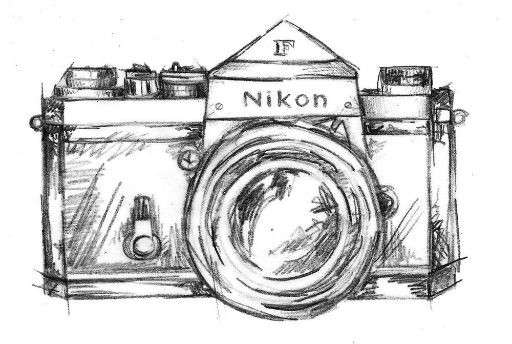 nikon camera drawing Gallery
