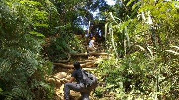 Menanjak dan menanjak itulah rute pendakian Gunung Pulosari.