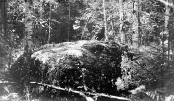 Мама-камень, обозначавший в XVII веке русско-шведскую границу.