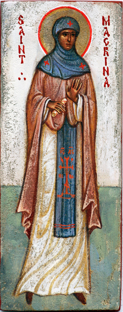 Year two. St Macrina is sometimes depicted as a monastic, with the schema.
