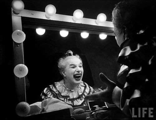 11 - 1952. Charlie Chaplin on the set of his film Limelight. Photo by W. Eugene Smith.