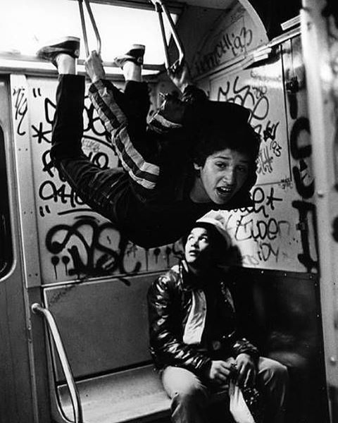 22 - 1980. New York City Subway, by Stephen Shames.