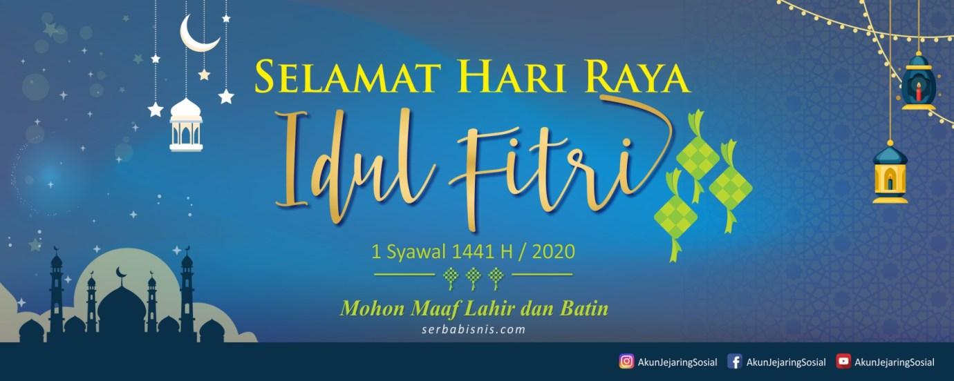 Desain Banner Spanduk Idul Fitri Serbabisnis