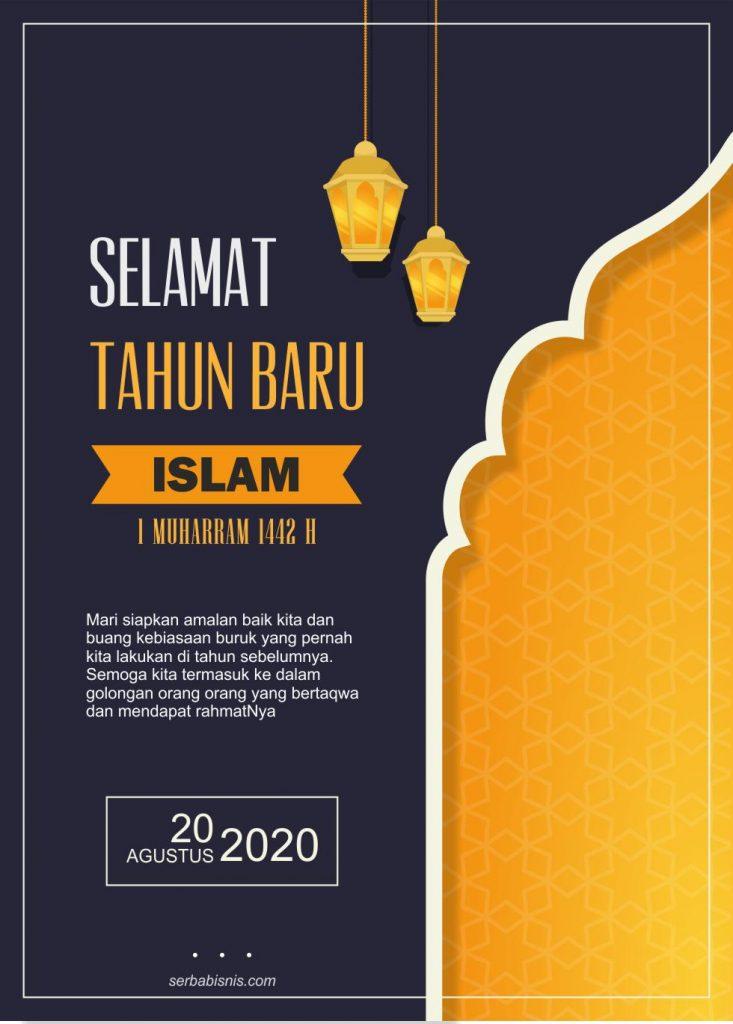 Banner Tahun Baru Hijriyah : banner, tahun, hijriyah, Poster, Ucapan, Tahun, Islam, SerbaBisnis