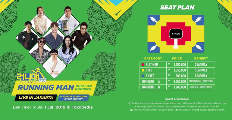 Tokopedia Jual Tiket RUNNING MAN KEEP ON RUNNING LIVE IN JAKARTA