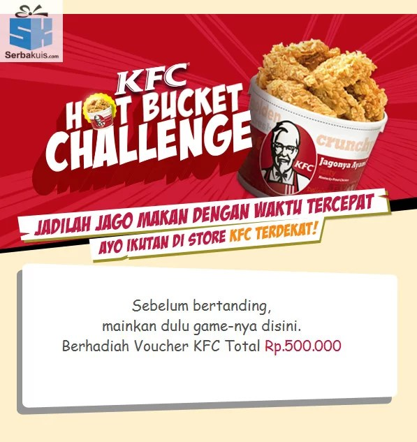 KFC HOT BUCKET CHALLENGE GAME