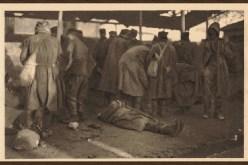 Тело српског војника умрлог од глади 1915