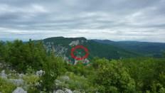 Положај утврђења, гледано са Јежевца, фото: Слободан Божић