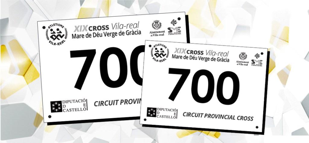 Dorsales realizados para el XIX Cross Vila-Real