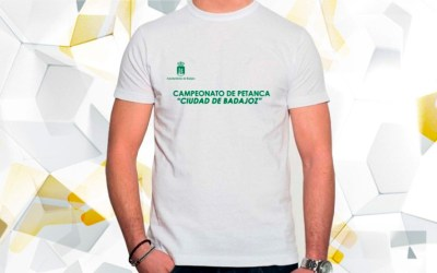 Camisetas de Algodón para el Campeonato de Petanca Ciudad de Badajoz organizado por I.M.SS. Badajoz